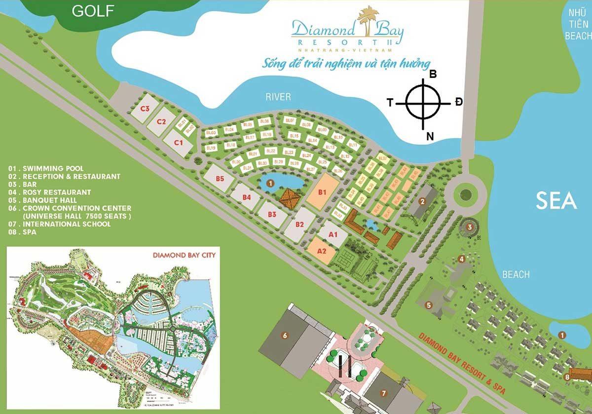Khu Resort Khu đô thị Sunshine Diamond Bay Nha Trang