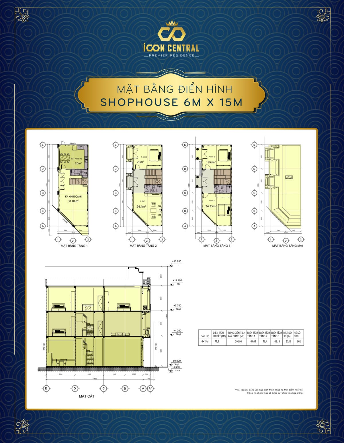 mat bang dien hinh shophouse 6x 15m icon central - SHOP OFFICE ICON CENTRAL DĨ AN BÌNH DƯƠNG