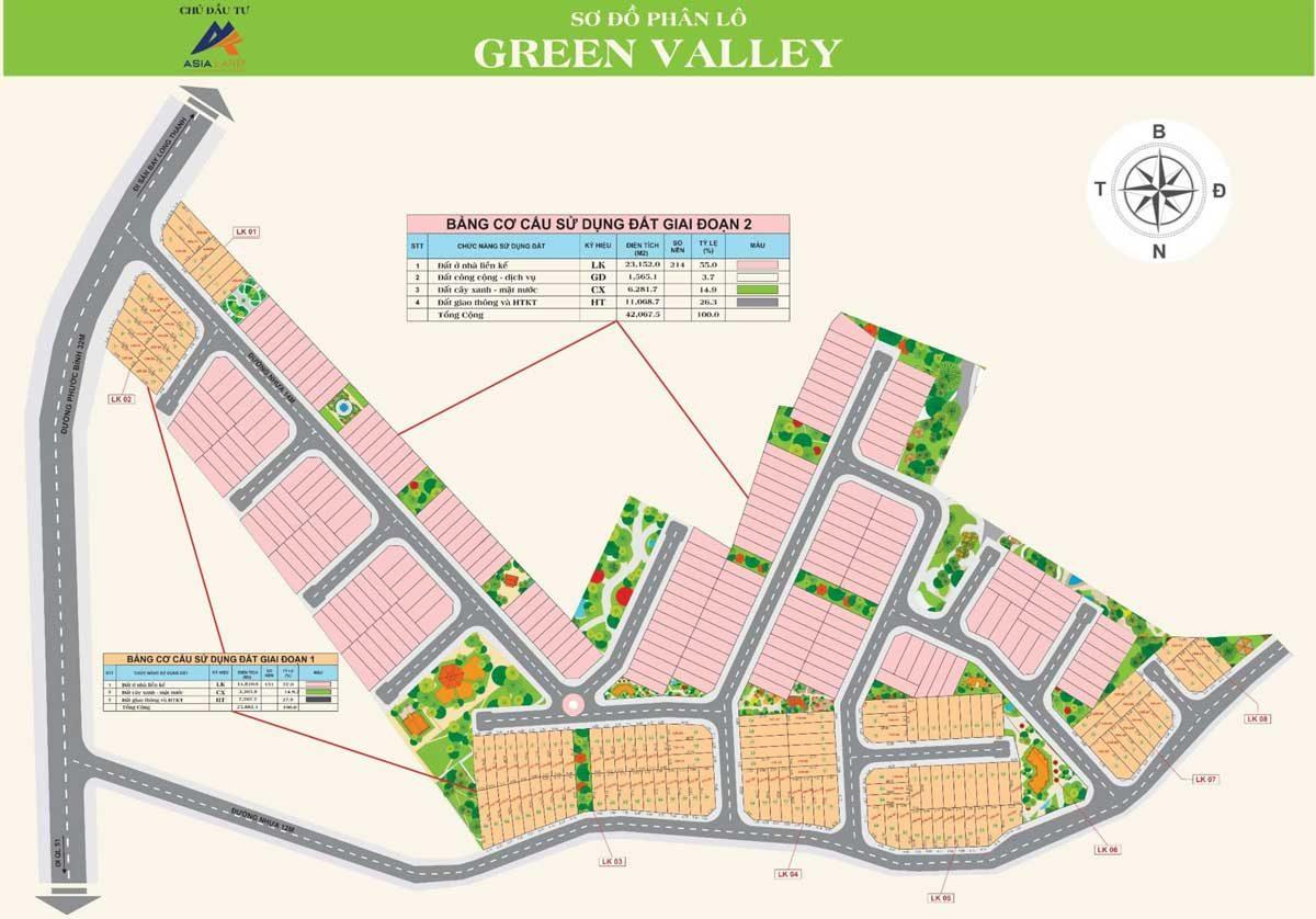 mat bang phan lo green valley phuoc binh - DỰ ÁN GREEN VALLEY PHƯỚC BÌNH LONG THÀNH ĐỒNG NAI