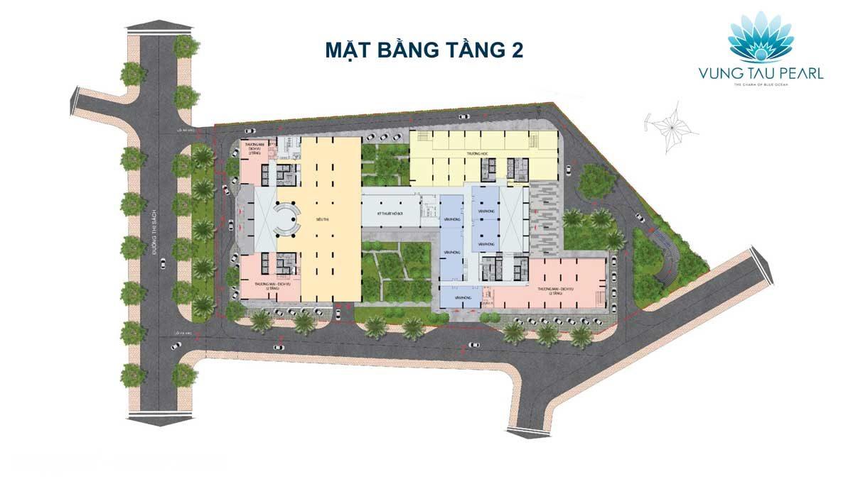 Mặt bằng Tầng 2 Dự án căn hộ Vung Tau Pearl
