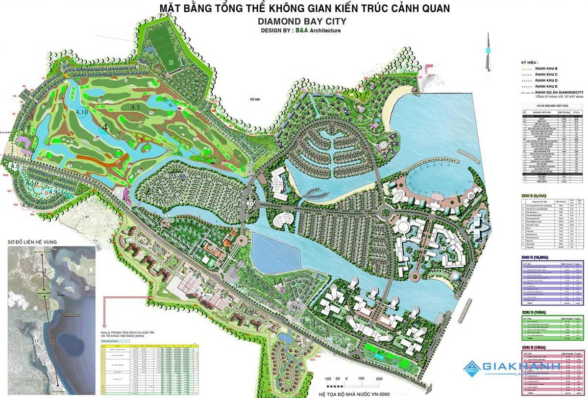 Mặt bằng Tổng thể Khu đô thị Sunshine Diamond Bay Nha Trang