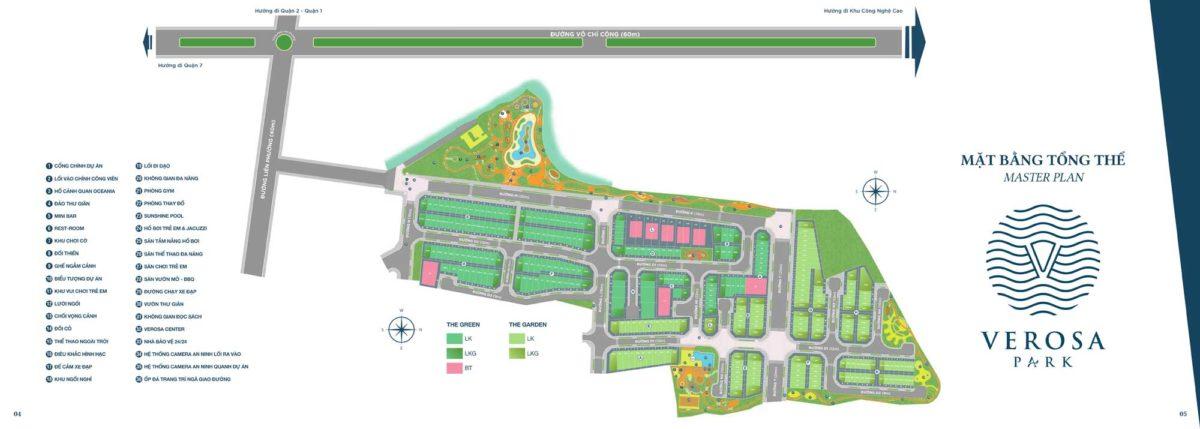 mat bang tong the verosa park - DỰ ÁN NHÀ PHỐ BIỆT THỰ VEROSA PARK QUẬN 9
