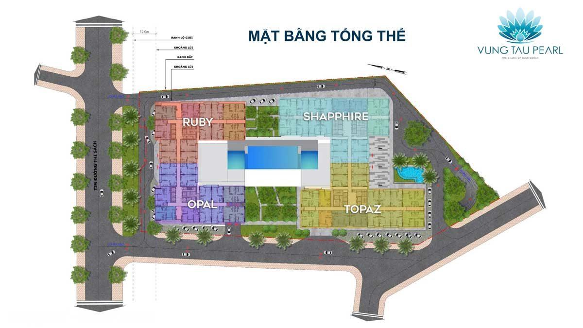 Mặt bằng Tổng thể Dự án căn hộ Vung Tau Pearl