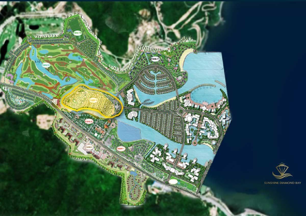 Tổng thể Khu đô thị Sunshine Diamond Bay Nha Trang