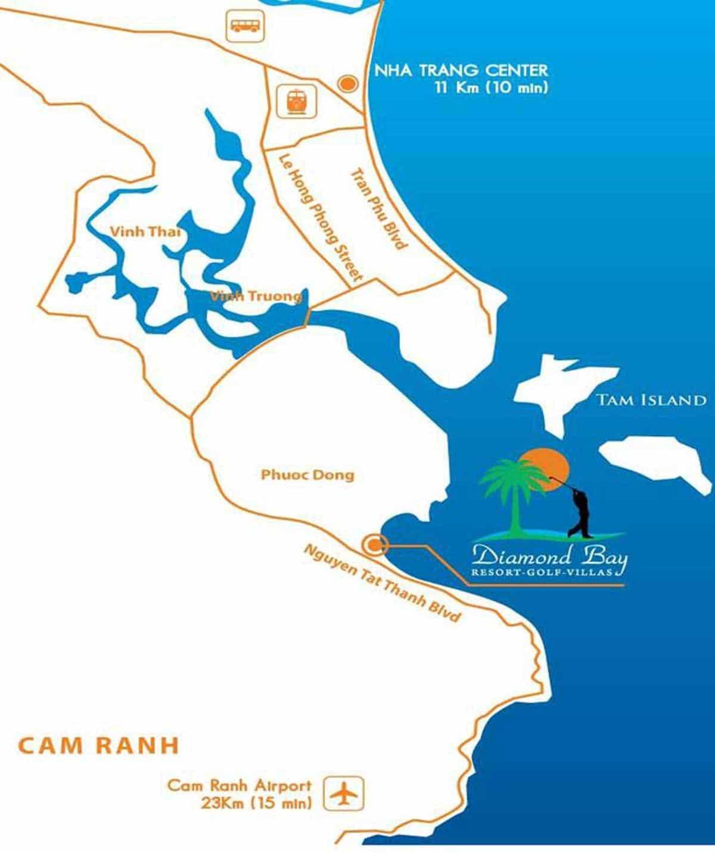 Vị trí Khu đô thị Sunshine Diamond Bay Nha Trang