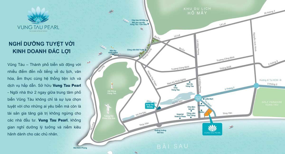 Vị trí Dự án Căn hộ Vung Tau Pearl