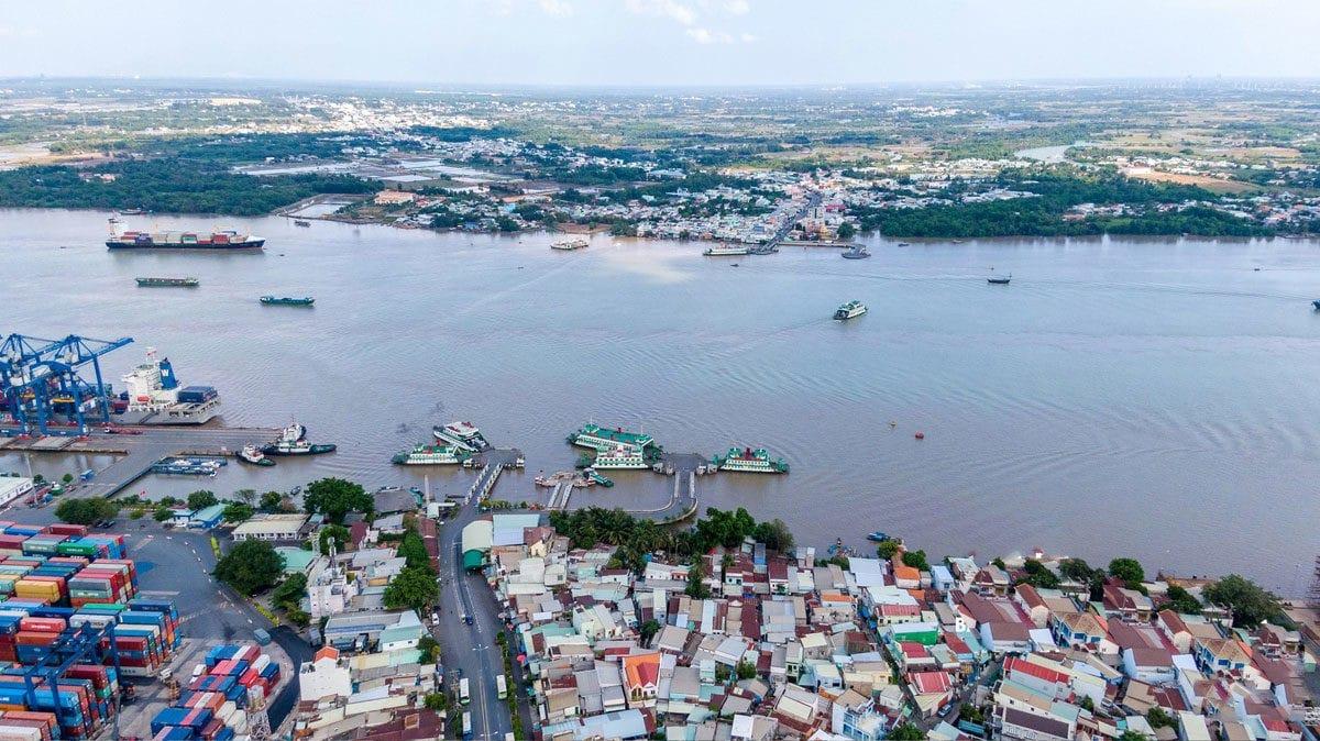 Khu vực sẽ xây dựng cầu Cát Lái nối quận 2 TPHCM với huyện Nhơn Trạch Đồng Nai - NĂM 2020 TỈNH ĐỒNG NAI CHÍNH THỨC KHỞI CÔNG XÂY DỰNG CẦU CÁT LÁI