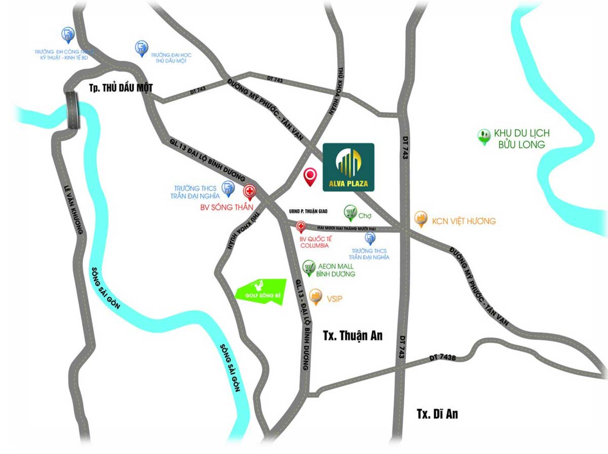 Vi tri Du an Nha pho Can ho Alva Plaza Thuan An - Vị-trí-Dự-án-Nhà-phố-Căn-hộ-Alva-Plaza-Thuận-An