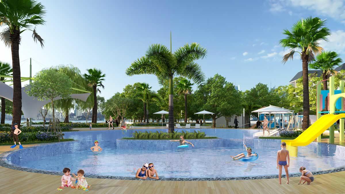 Hồ bơi ngoài trời Dự án Văn Hoa Villas Biên Hòa Đồng Nai