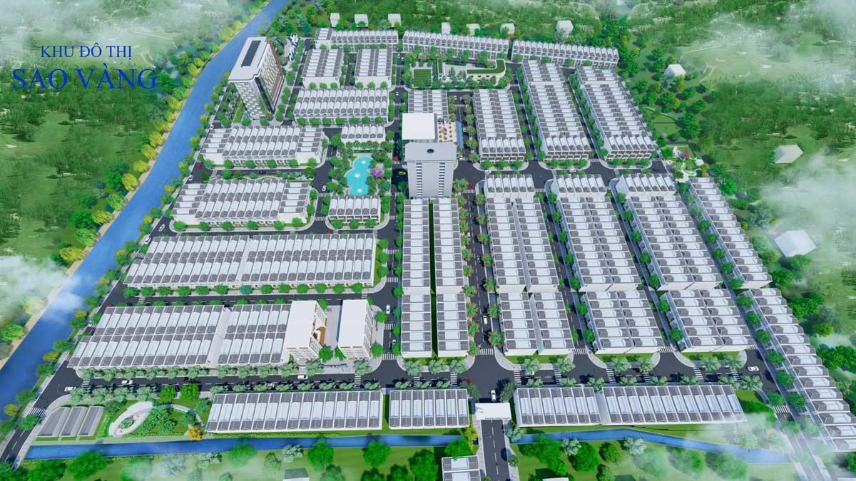 Mặt bằng Dự án Khu đô thị Sao Vàng Long An