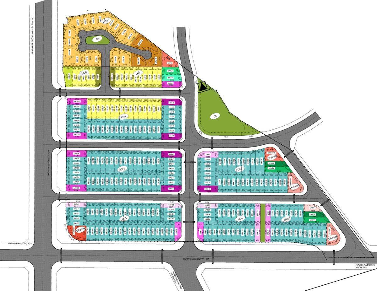 Mặt bằng Dự án Văn Hoa Villas Biên Hòa Đồng Nai
