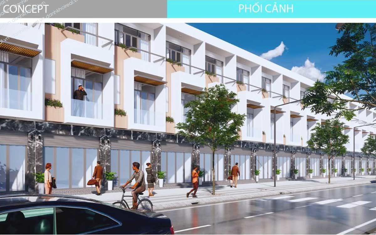 Phối cảnh Nhà phố Dự án Alva Plaza Bình Dương