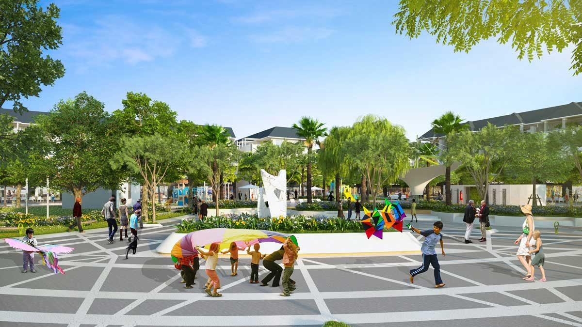 Quảng trường văn hóa Dự án Văn Hoa Villas Biên Hòa Đồng Nai