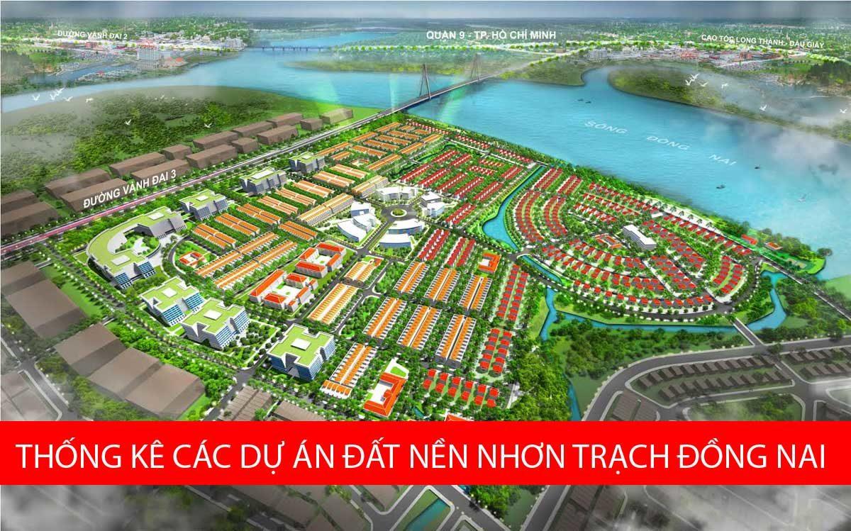 Thống kê các dự án đất nền tại Huyện Nhơn Trạch
