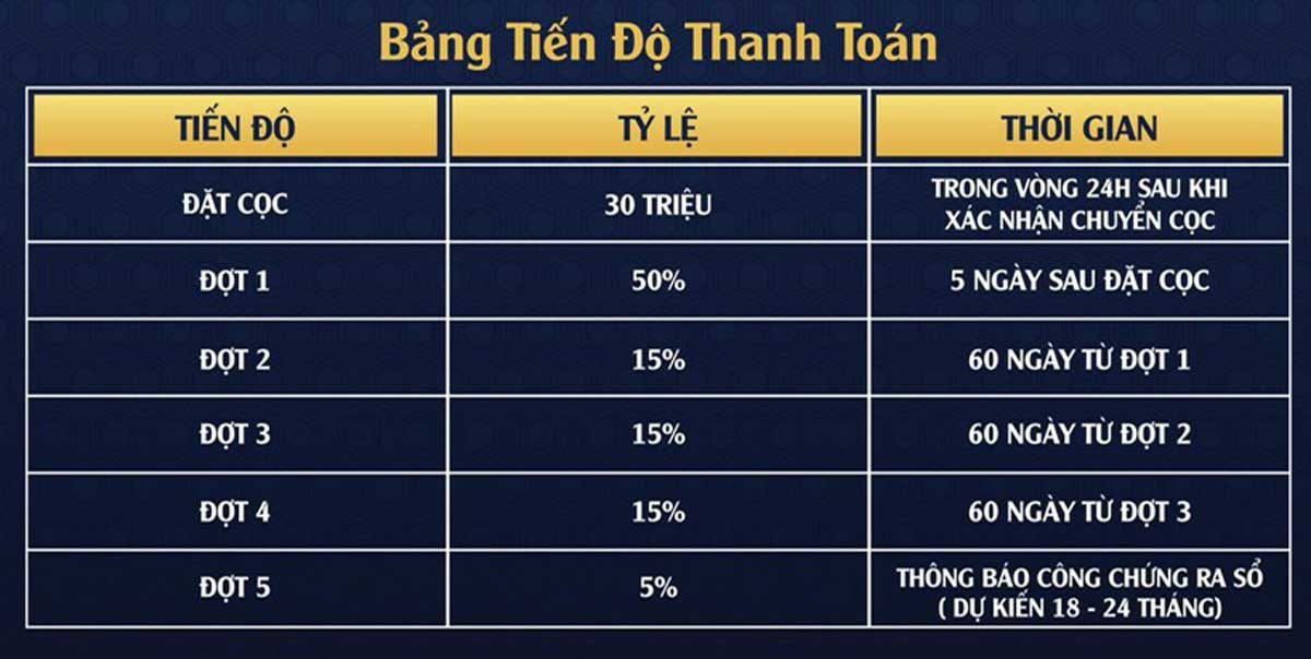 tien do thanh toan du an diamond airport city - DỰ ÁN DIAMOND AIRPORT CITY LONG THÀNH ĐỒNG NAI