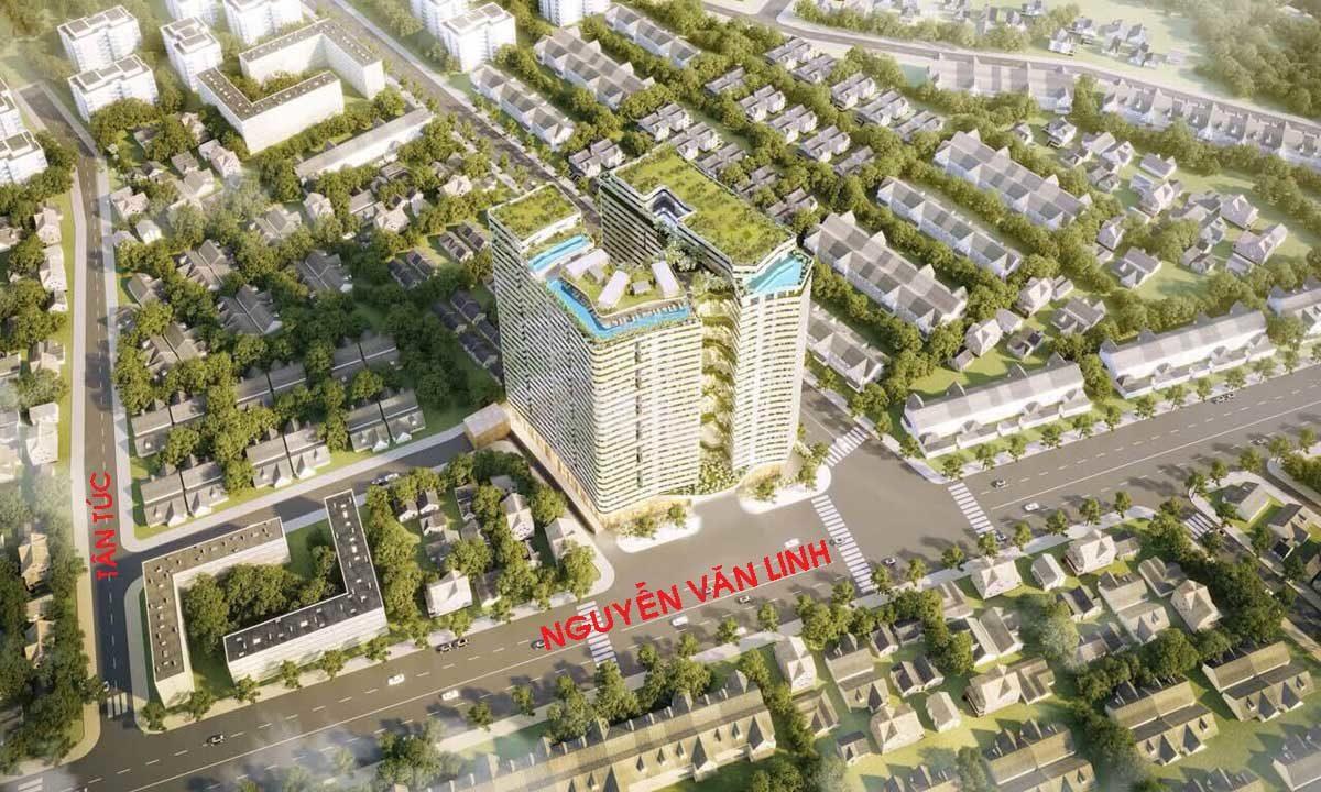 Phối cảnh Tổng thể thDự án Căn hộ West Gate Park Bình Chánh