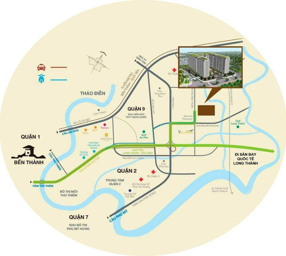 vi tri can ho river park tower - DỰ ÁN CĂN HỘ RIVER PARK TOWER QUẬN 9