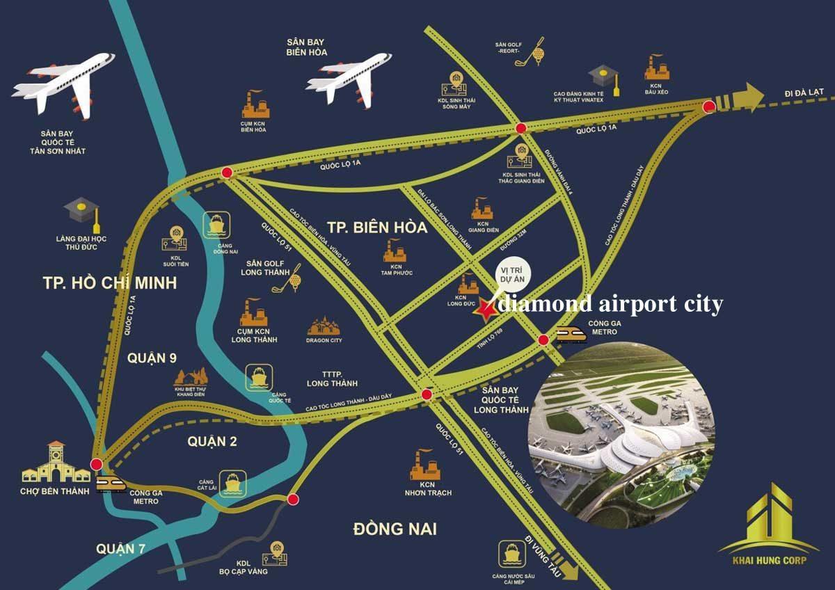 vi tri du an diamond airport city - DỰ ÁN DIAMOND AIRPORT CITY LONG THÀNH ĐỒNG NAI