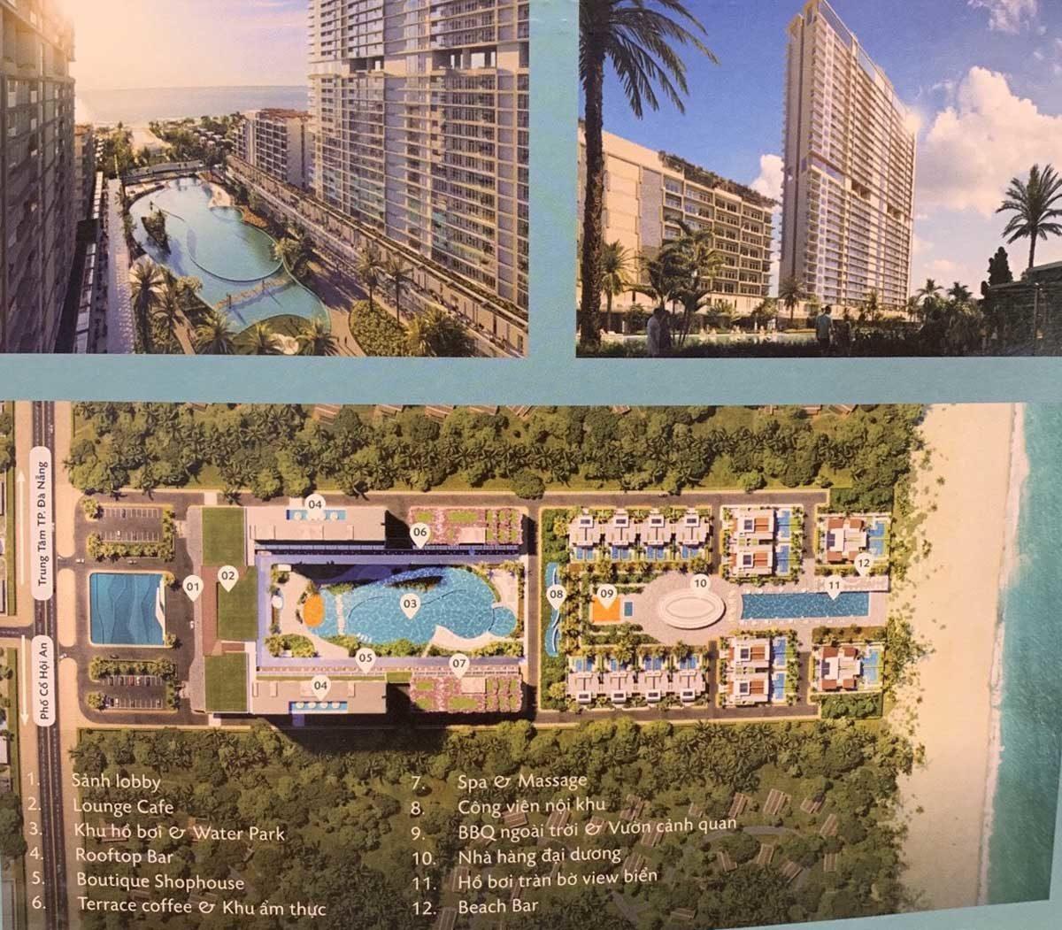 Các tiện ích nội khu Căn hộ Aria Đà Nẵng Hotel & Resort