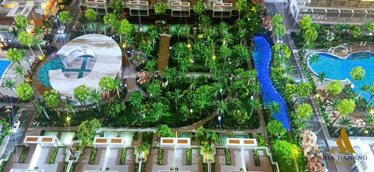 Công viên nội khu Dự án Aria Da Nang Hotel And Resort
