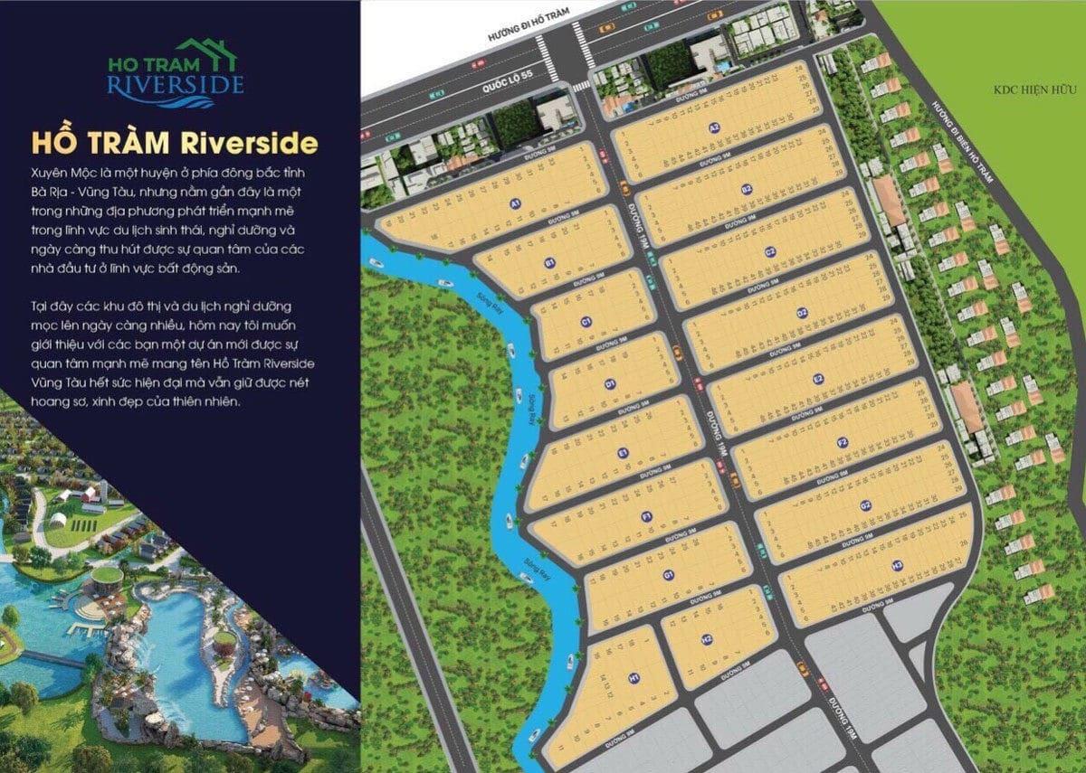 Phối cảnh Dự án Hồ Tràm Riverside Xuyên Mộc Bà Rịa Vũng Tàu