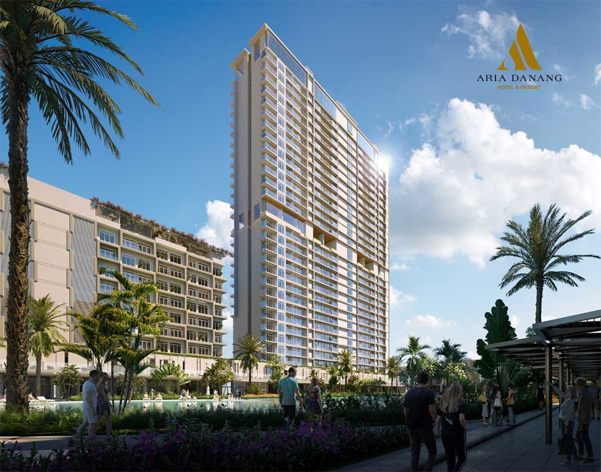 khu cong vien noi khu du an aria da nang hotel and resort - DỰ ÁN BIỆT THỰ CĂN HỘ CONDOTEL ARIA ĐÀ NẴNG