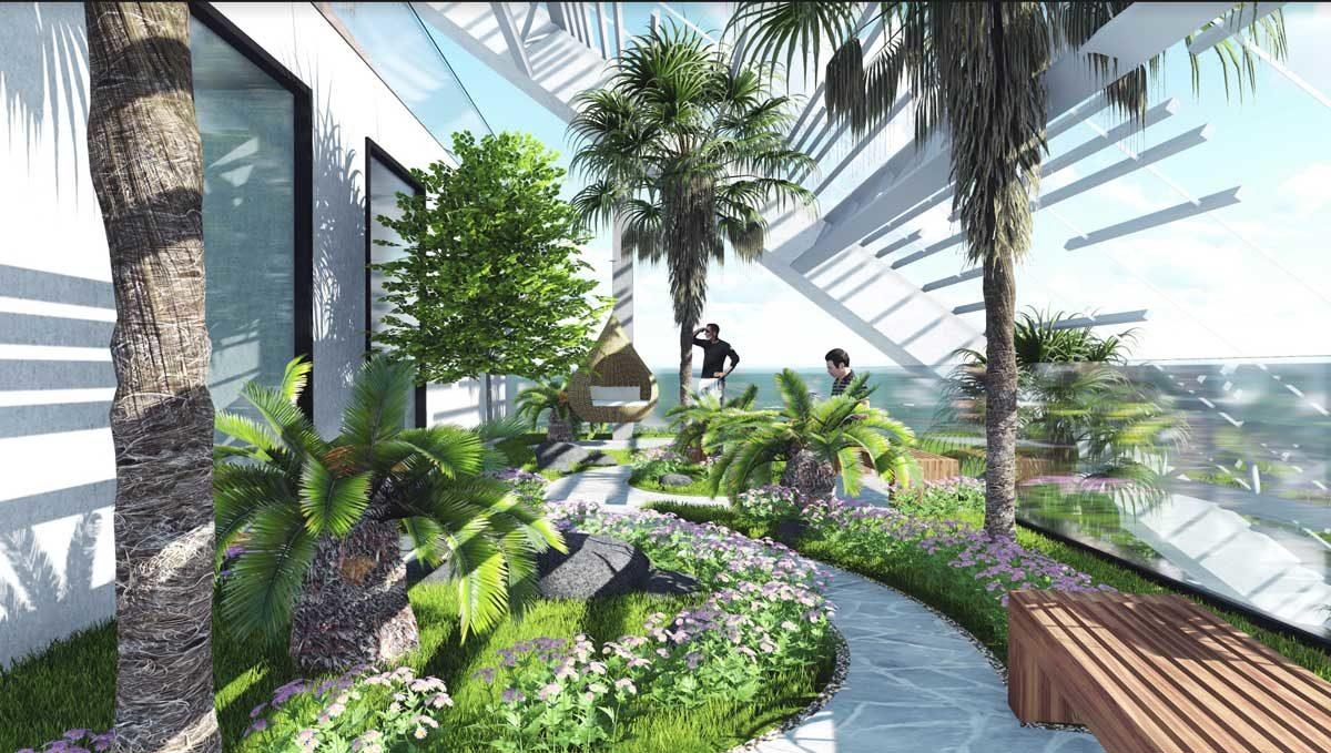 Khu công viên biển tại Dự án Maria Quy Nhơn Beach Resort