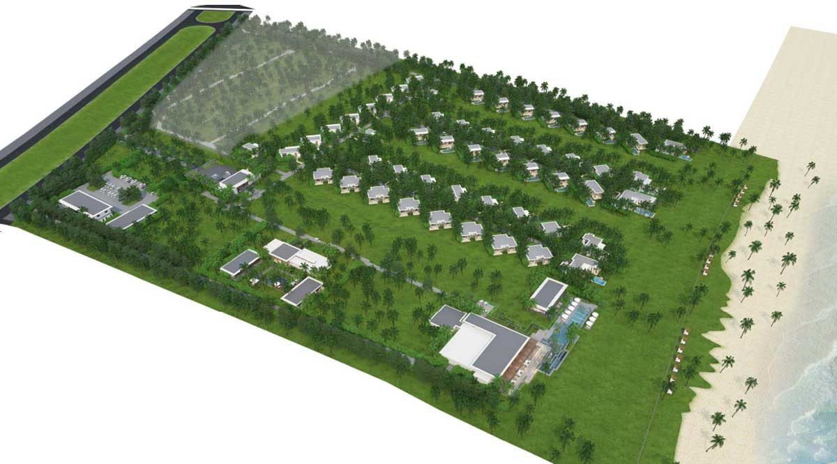 Mặt bằng Dự án khu nghỉ dưỡng Maia Quy Nhơn Beach Resort