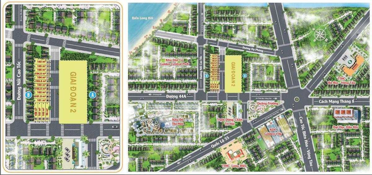 Mặt bằng Dự án Khu dân cư Long Điền Bà Rịa Vũng Tàu