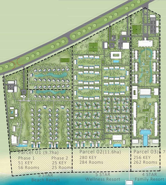 Mặt bằng tổng thể Dự án khu nghỉ dưỡng Maia Quy Nhơn Beach Resort