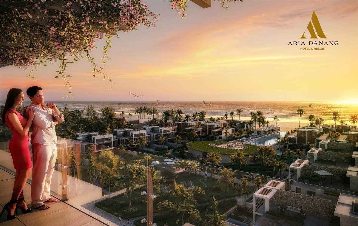 Ngắm hoàng hôn từ Aria Hotel & Resort Đà Nẵng