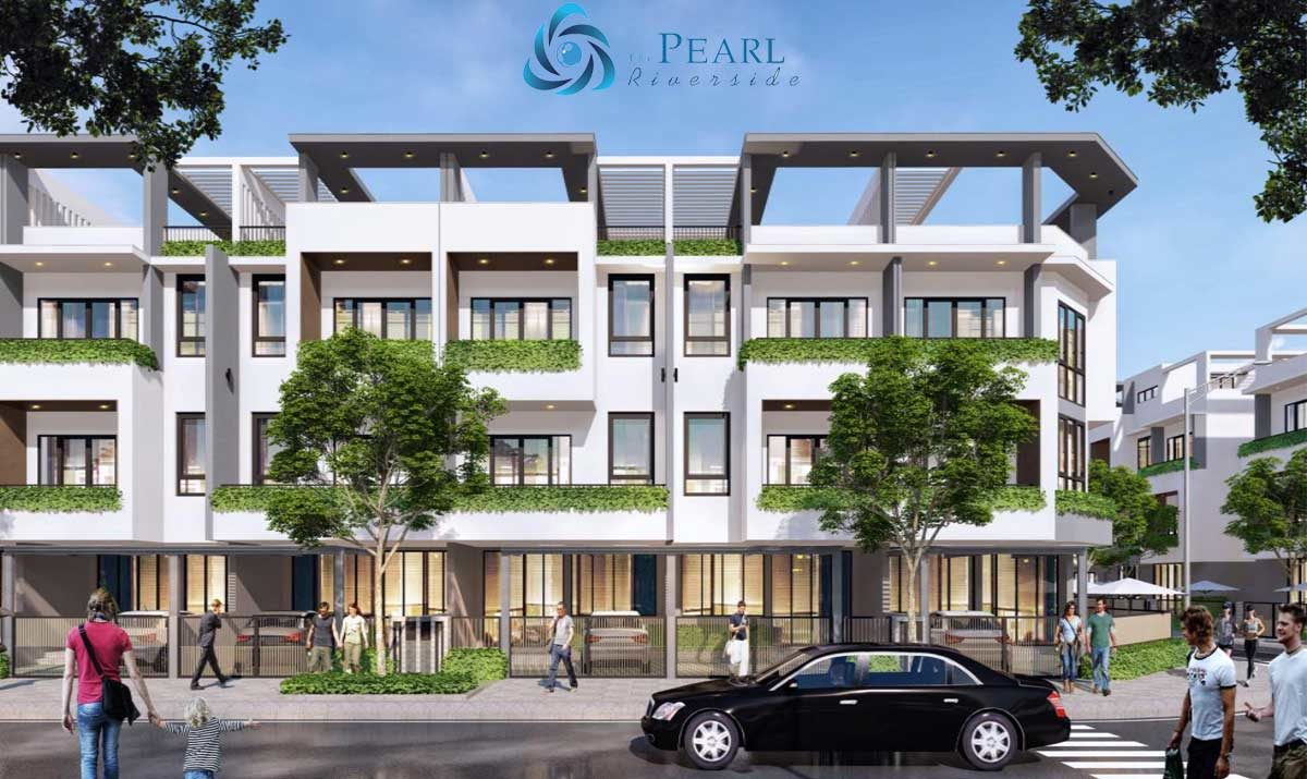 phoi canh biet thu du an the pearl riverside long an - DỰ ÁN THE PEARL RIVERSIDE BẾN LỨC LONG AN
