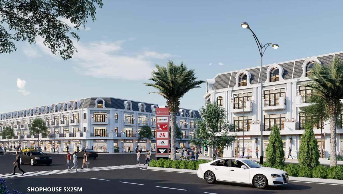 phoi canh khu shophouse du an khu do thi ca mau new city - DỰ ÁN KHU ĐÔ THỊ CÀ MAU NEW CITY