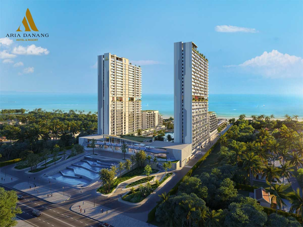 Sảnh chính Dự án Aria Hotel & Resort Đà Nẵng