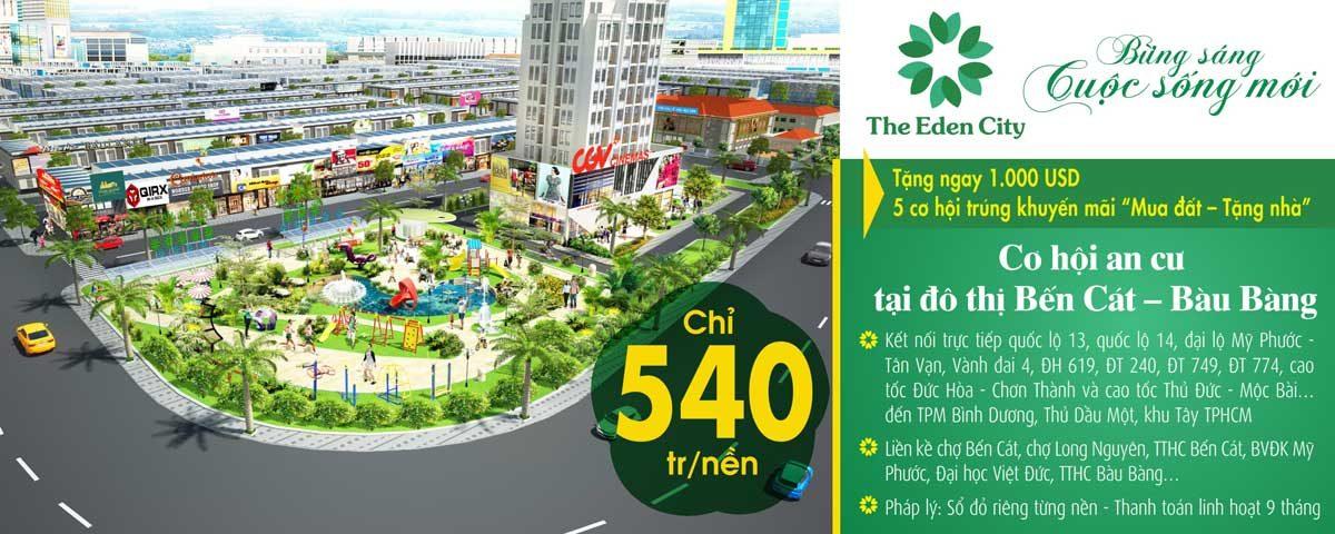 the eden city binh duong - DỰ ÁN THE EDEN CITY BÀU BÀNG BÌNH DƯƠNG