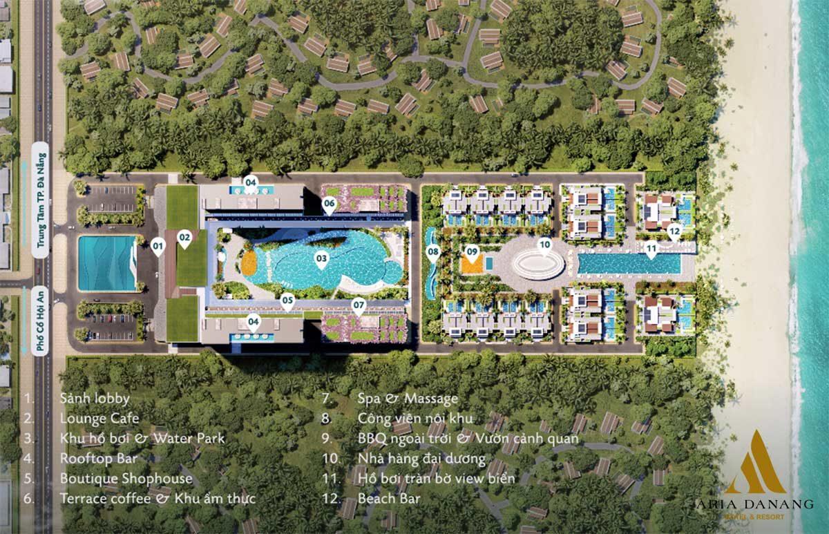 tien ich noi khu aria hotel and resort da nang - DỰ ÁN BIỆT THỰ CĂN HỘ CONDOTEL ARIA ĐÀ NẴNG