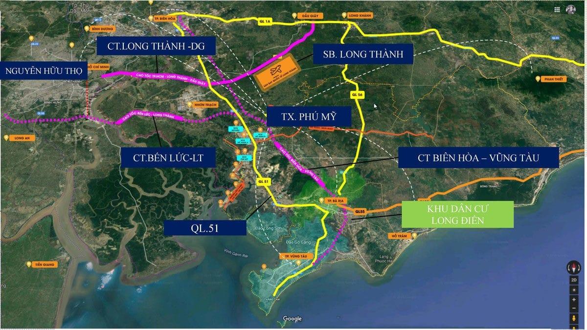 Tiện ích liên kết khu vực Dự án Khu dân cư Long Điền Bà Rịa Vũng Tàu