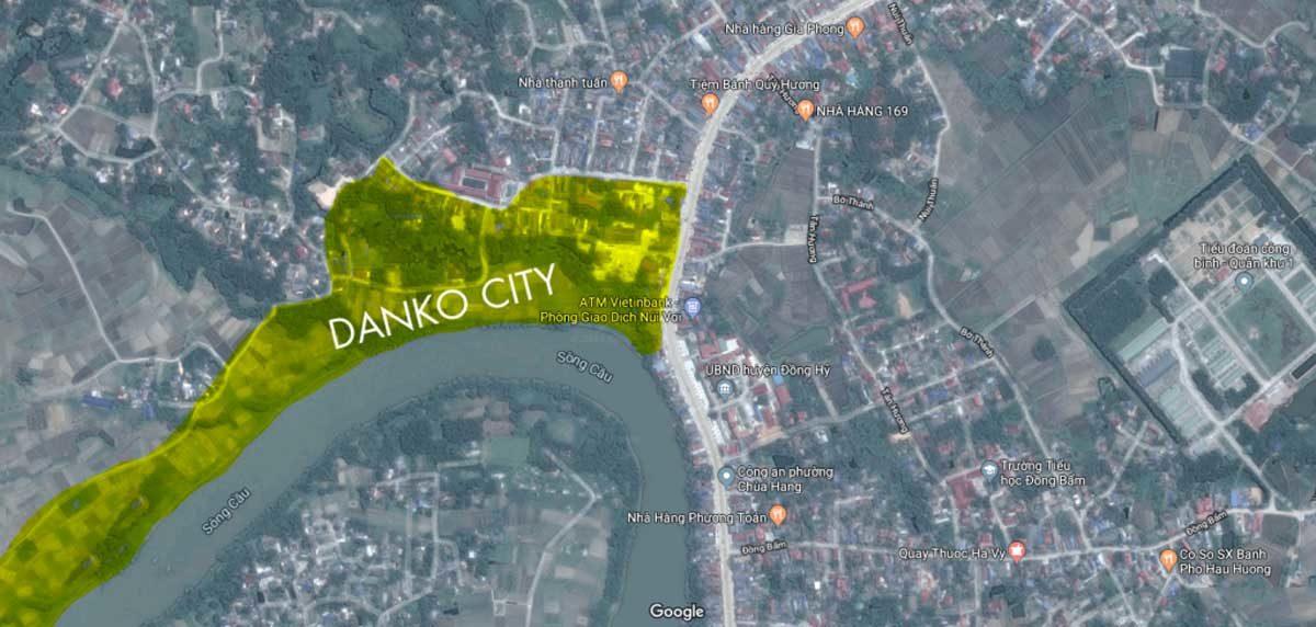 Vị trí Dự án Khu đô thị Danko City Thái Nguyên trên Google Maps
