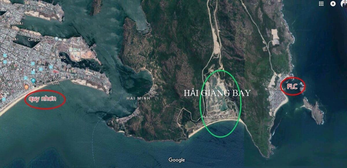 Vị trí Dự án Khu đô thị Giang Hải Bay Quy Nhơn