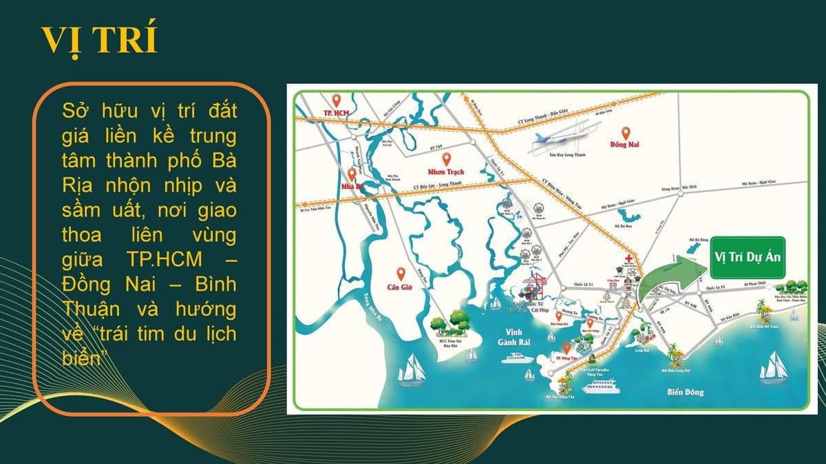 Vị trí Dự án Khu dân cư Long Điền Bà Rịa Vũng Tàu