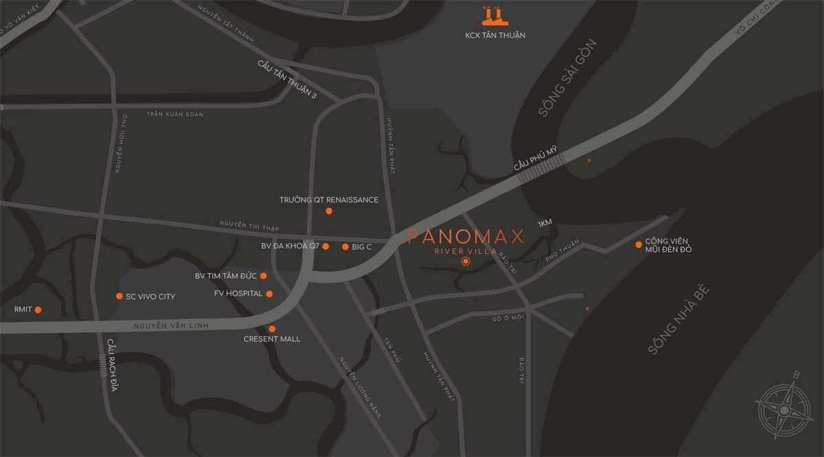 vi tri du an panomax river villa - DỰ ÁN CĂN HỘ PANOMAX RIVER VILLA QUẬN 7