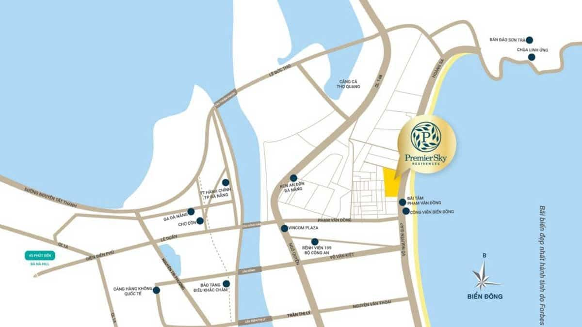 Vị trí Dự án Căn hộ Premier Sky Residences Đà Nẵng