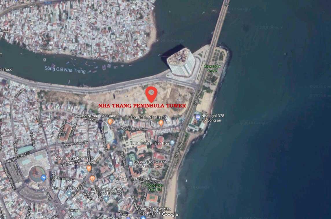 vi tri thuc te can ho Nha Trang Peninsula Tower - DỰ ÁN CĂN HỘ NHA TRANG PENINSULA TOWER