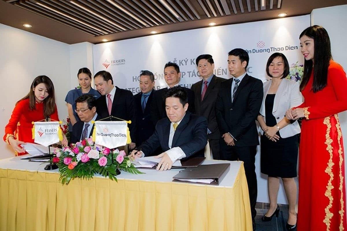 Lễ ký kết hợp tác triển khai dự án Q2 Thảo Điền giữa Frasers Centrepoint Limited và An Dương Thảo Điền - GIỚI THIỆU CÔNG TY FRASERS CENTREPOINT LIMITED (SINGAPORE)