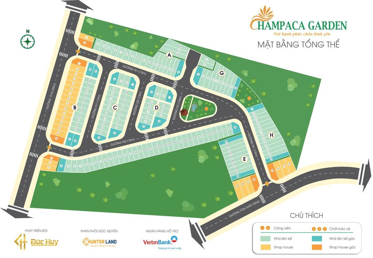 Mặt bằng tổng thể Champaca Garden Bình Dương - DỰ ÁN CHAMPACA GARDEN DĨ AN BÌNH DƯƠNG