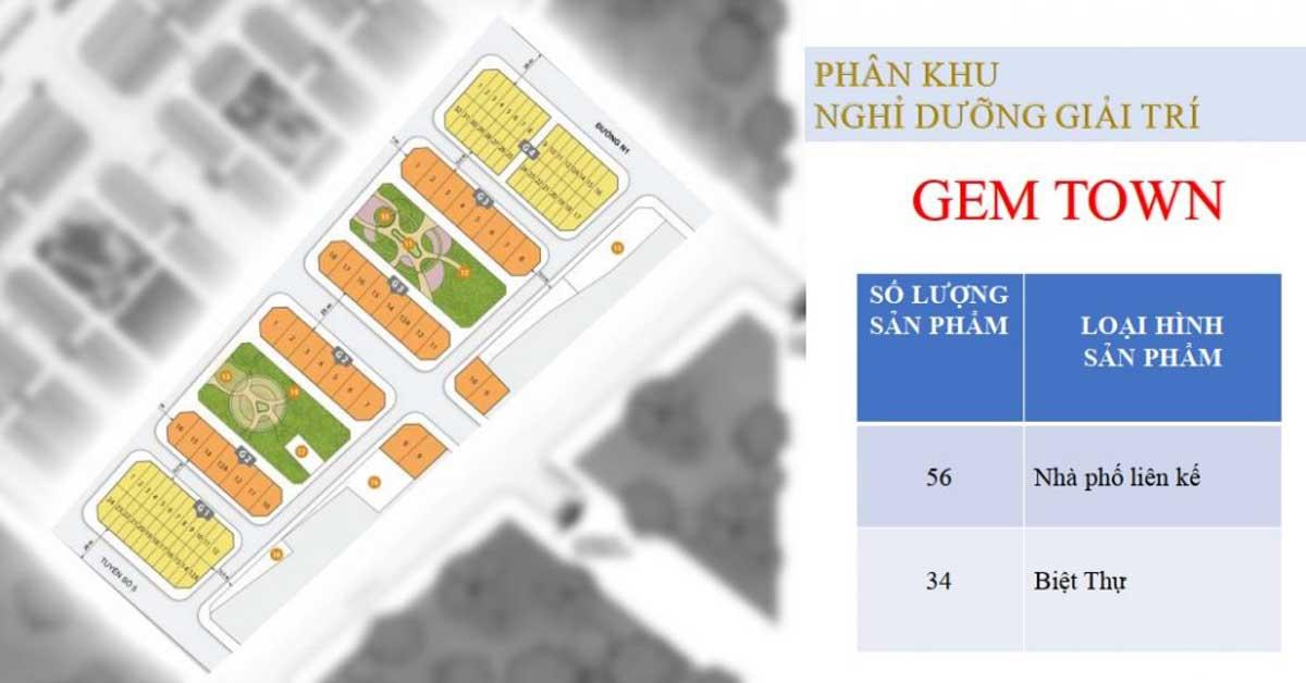 Phan khu Gem Town - DỰ ÁN KHU ĐÔ THỊ TNR AMALUNA TRÀ VINH