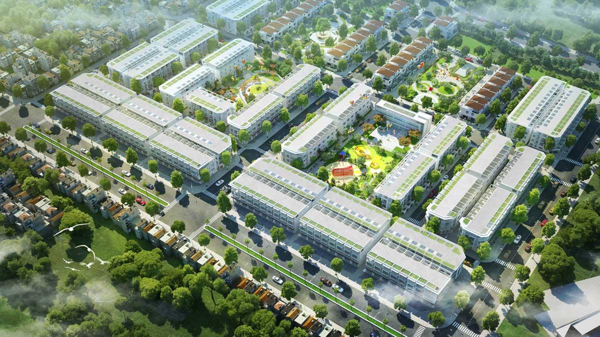 Phoi canh Phan khu Crystal Town - DỰ ÁN KHU ĐÔ THỊ TNR AMALUNA TRÀ VINH
