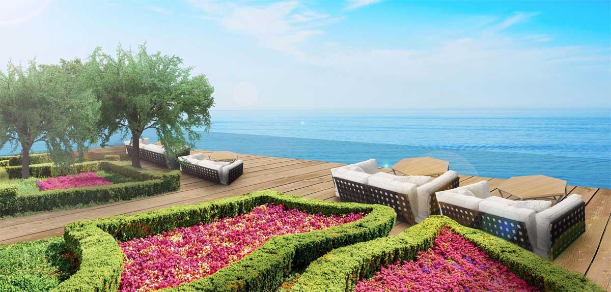 Vuon tren khong Babylon Sky Garden Terrace cafe - THE MARIS VŨNG TÀU