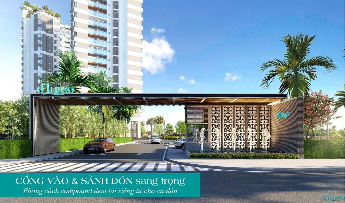 Cổng chào Dự án Căn hộ Chung cư D'Lusso Emerald Quận 2