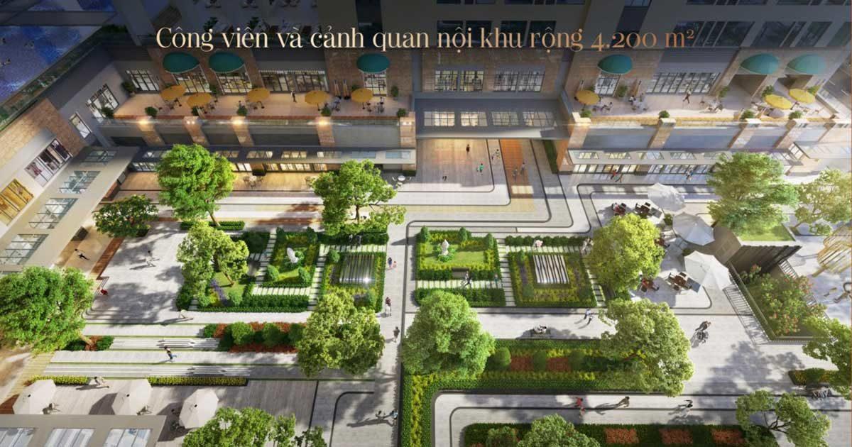 Tiện ích Công viên nội khu Dự án Căn hộ Soho Residence Cô Giang Quận 1